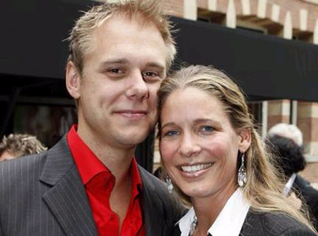 Armin van Buuren with kind, Wife Erika van Thiel